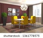 interior dining area. 3d... | Shutterstock . vector #1361778575