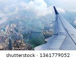 Airplane Flies Over Hong Kong....