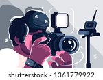 photographer on studio fashion... | Shutterstock .eps vector #1361779922