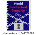 world intellectual property day.... | Shutterstock .eps vector #1361783588