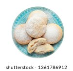 plate with cookies for islamic... | Shutterstock . vector #1361786912