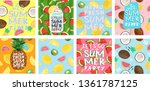 hello summer  posters for a fun ... | Shutterstock .eps vector #1361787125