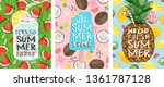 hello summer  posters for a fun ... | Shutterstock .eps vector #1361787128