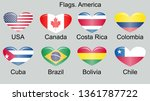 american countries flag set... | Shutterstock .eps vector #1361787722