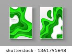 set of spring and summer... | Shutterstock .eps vector #1361795648