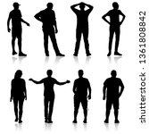 silhouette group of people... | Shutterstock . vector #1361808842