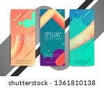 abstract decorative colorful...   Shutterstock .eps vector #1361810138