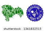 vector collage of grape wine...   Shutterstock .eps vector #1361832515