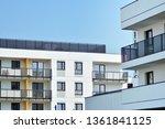 modern european residential... | Shutterstock . vector #1361841125