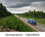 highway scandinavia   bad... | Shutterstock . vector #13618441