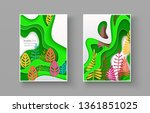 set of seasonal banners with... | Shutterstock .eps vector #1361851025