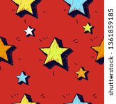 stars seamless pattern. vector...   Shutterstock .eps vector #1361859185