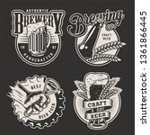 monochrome vintage brewery... | Shutterstock .eps vector #1361866445