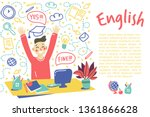 concept of learning english... | Shutterstock .eps vector #1361866628