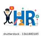human resource or hr management ... | Shutterstock .eps vector #1361880185