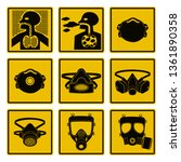 set of respiratory icon for... | Shutterstock .eps vector #1361890358