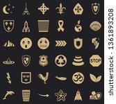 nice emblem icons set. simple... | Shutterstock .eps vector #1361893208