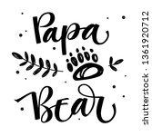 papa bear   bear family vector... | Shutterstock .eps vector #1361920712