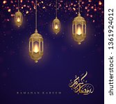 ramadan kareem background with... | Shutterstock .eps vector #1361924012