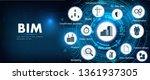 bim banner   building...   Shutterstock .eps vector #1361937305