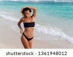 girl with sexy body in swimwear ...   Shutterstock . vector #1361948012