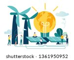 vector illustration alternative ... | Shutterstock .eps vector #1361950952