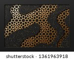black and gold background with...   Shutterstock .eps vector #1361963918