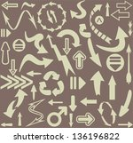 arrows seamless pattern | Shutterstock .eps vector #136196822
