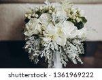 wedding bridal bouquet stands...   Shutterstock . vector #1361969222