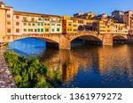 florence  italy. ponte vecchio...   Shutterstock . vector #1361979272