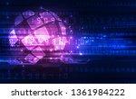 vector digital global... | Shutterstock .eps vector #1361984222