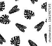 black and white pattern of... | Shutterstock .eps vector #1361987195