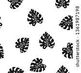 black and white pattern of... | Shutterstock .eps vector #1361987198