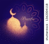 creative glowing mosque made... | Shutterstock .eps vector #1362004118