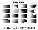 manga comic motion speed lines... | Shutterstock .eps vector #1362004388