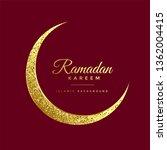 golden glitter eid moon ramadan ... | Shutterstock .eps vector #1362004415