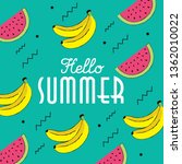 hello summer hand drawing style ... | Shutterstock .eps vector #1362010022
