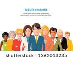 international business team on... | Shutterstock .eps vector #1362013235