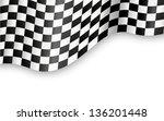 checkered flag background vector   Shutterstock .eps vector #136201448