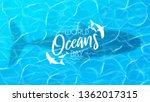 blue banner for world oceans... | Shutterstock .eps vector #1362017315