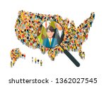 looking for a man with... | Shutterstock .eps vector #1362027545