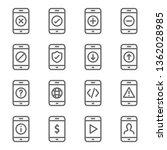 smartphone device icon set.... | Shutterstock .eps vector #1362028985