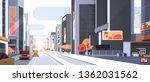 cars driving road traffic urban ... | Shutterstock .eps vector #1362031562
