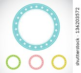 set of vector labels on white... | Shutterstock .eps vector #136203572