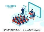 isometric vector of business... | Shutterstock .eps vector #1362042638