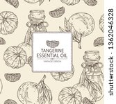 Background With Tangerine And...