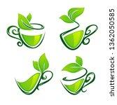 green tea  vector collection of ... | Shutterstock .eps vector #1362050585
