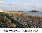 shingle beach and promenade at...