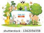 vector illustration of kids... | Shutterstock .eps vector #1362056558