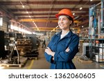 happy young female technician... | Shutterstock . vector #1362060605